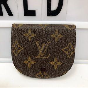 Louis Vuitton round monogram vintage coin purse